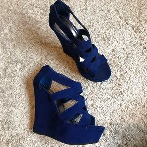 Shoes - Blue wedges